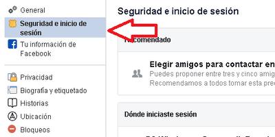 Cambiar contraseña facebook 3